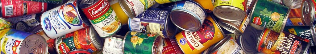 Photo of donated food cans
