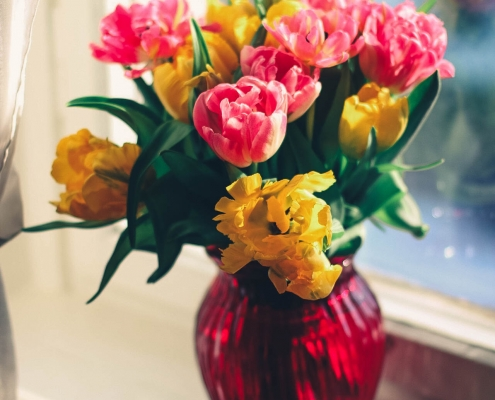 Flowers to brighten a persons day.